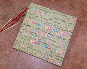 Adorable 7x7 Birthday Scrapbook, Handmade Album