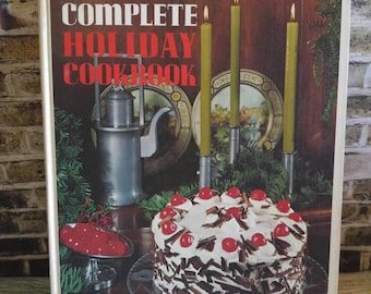 Holiday Cookbook, Vintage Cookbook, 1970s Cookbook, Complete Holiday Cookbook