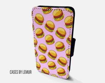 BURGER HTC One M8 Wallet Case HTC One M7 Wallet Case Htc One M9 Wallet Case Htc M8 Leather Case Htc M7 Flip Case Htc M9 Leather Cover Phone