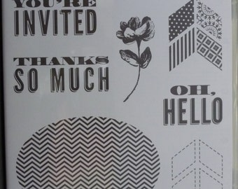 Oh, Hello Stamp Set * Stampin' Up! - 7 pieces