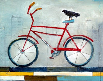 Bicycle, Bicycle Art, Romeo, Bicycle Print, Bike Art