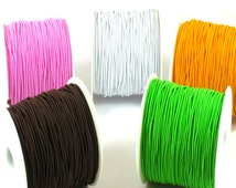 20 Meters Elastic Satin Cord Suitable For Rubber Bands And Making Jewerly, String Cord, Soft Satin Cord 1.5mm