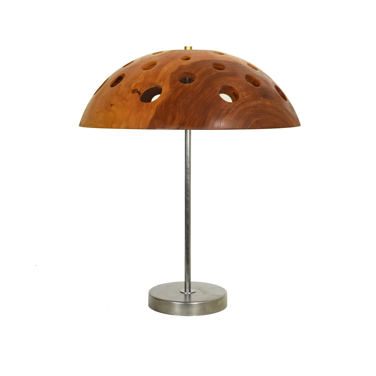 table lamp with cherry wood shade holy bowl series. Black Bedroom Furniture Sets. Home Design Ideas