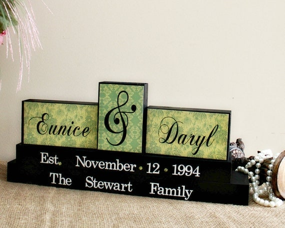 ... Personalized Family Name Wood Sign - Wedding Gifts Canada - Bridal