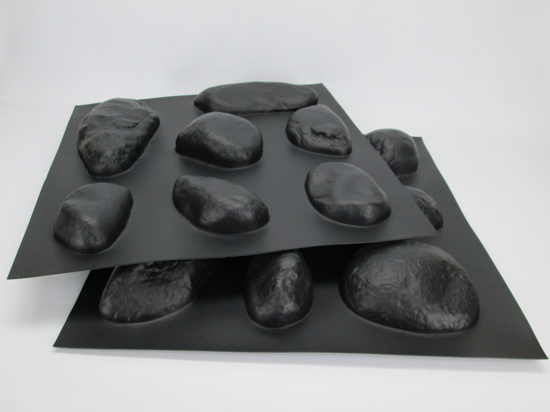 River Rock Wall Veneer Plastic Cement Concrete Molds 14 Pc