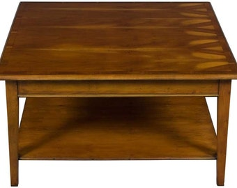 Vintage Square Coffee Table in Yew Wood