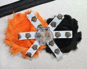 Cinncinnati Bengals Clip or Headband - Bengals - Bengals clip - Bengals Headband - Bengals baby headband