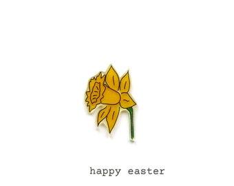 daffodil - easter card - daffodil card - handmade easter card