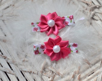 Floral Hair Clips, Alligator Clips