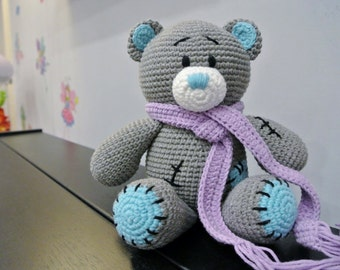 Me To You Crochet Bear Amigurumi - Handmade Crochet Amigurumi Toy Doll - Bear Crochet - Amigurumi Bear