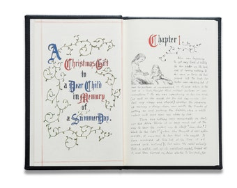 30% off! - The Original Alice in Wonderland - 150th Anniversary edition of Alice's Adventures Under Ground Children's Book - Includes Gloves