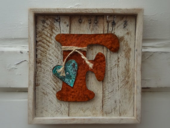 Initial Signs Letter Signs Wood Wall Decor Rustic By