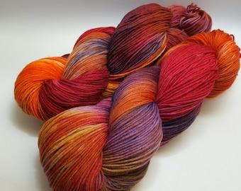 Hand-dyed sock yarn 100gr. Strand