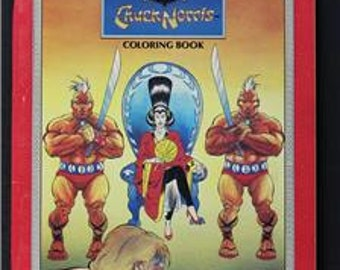 1986 Chuck Norris coloring book Miko's Revenge unused fun for the Walker TEXAS Ranger fun and kung fu martial arts fans