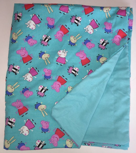 Sensory Child Weighted Blanket Peppa Pig 4 Lbs Handmade New