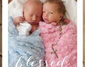 Baptism Invitation - *DIGITAL FILE* - Perfect for twins!