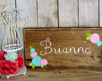 Custom Name Hand Painted reclaimed wood NURSERY SIGN DECOR,cottage,rustic decor