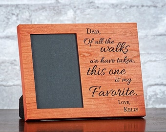 Dad Wedding Frame, Personalized Wedding Gift for Parents, Thank You Parents, Of All The Walks
