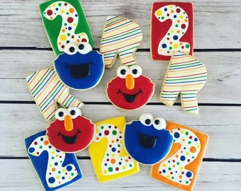 Sesame Street Cookies / Elmo Cookies / Cookie Monster Cookies