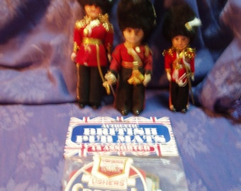 British Royal Guard dolls-set of 3 plus bonus