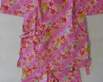 Jinbei for kids,Sakura, Japan,Made in Japan,children cloth,J-1