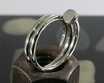 Pin Ring 925 Sterling Silver   4515