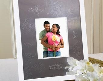 Contemporary Signature Frame Wedding Guestbook Alternative