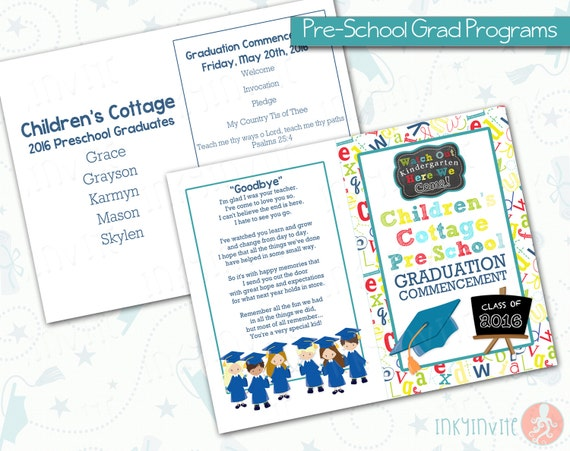 Pre-School Graduation Programs | Pre-K Class Graduation Programs