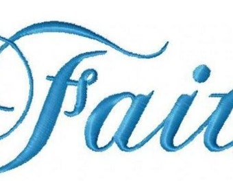 Faith, Hope and Charity ~ Machine Embroidery ~ Lettering Designs ~ 5 x 7 Hoop ~ Multi-Format