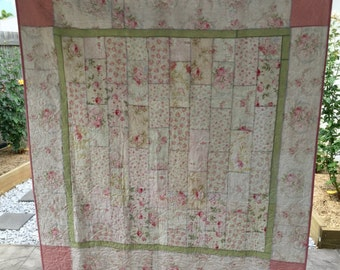 Pink rose quilt