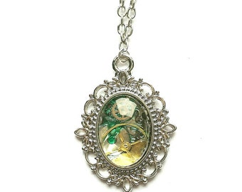 Watch Part Patina Necklace // Steampunk Necklace // Steampunk Jewellery // Watch Part Jewellery