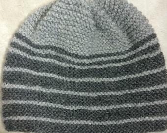 Alternating Gray Stripes Hat