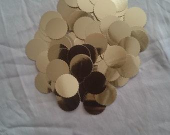 Metallic Confetti, wedding confetti, confetti dots, party confetti, gold confetti, silver confetti, one inch confetti