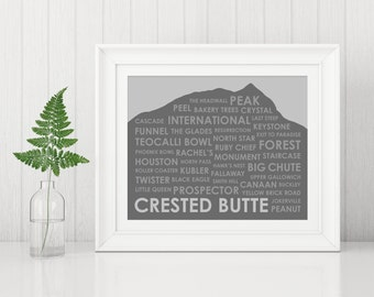 Crested Butte Ski Trails ~ Crested Butte CO Art Print ~ Gift for Skier ~ Colorado Ski Art ~ Gift for Skier ~ Ski Gift ~ Crested Butte Art
