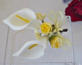 Calla lily hair clip, Calla lily hair accessory, Wedding hair, Bridal hair accessory, Bridesmaid hair flower,  Calla lily wedding