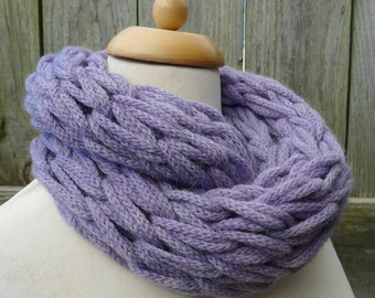 Merino Snood: lilac
