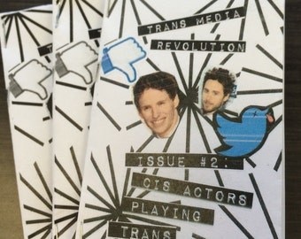 """Trans Media Revolution Ultra-Mini Zine Issue #2: """"Cis Actors Playing Trans Characters"""""""