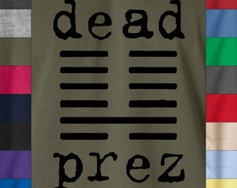 DEAD PREZ Logo Soft Ringspun Cotton T-Shirt Hip Hop Rap Music 404 Tape Mos Def