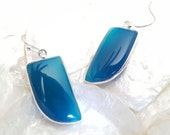 Blue Agate Earrings- Botswana Agate Earrings- Indian Jewelry- Gemstone Earrings- Once Upon a Time- Antique Earrings- September Earrings