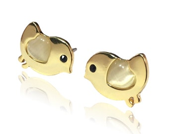NEW! Bird Earrings - Gold Plated