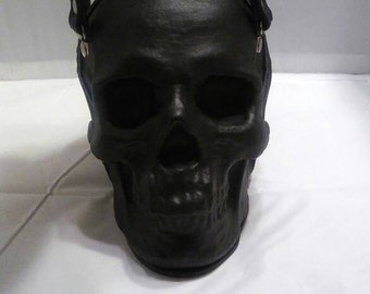 Griffen leather works Leather skull hand bag hand made in the USA skull purse.
