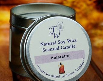 Amaretto Scented Soy Wax Candle
