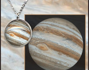 Jupiter Pendant on a Sterling Silver chain with informative photo card in black gift box