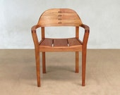 Modern Dining Chair, Desk Chair, Xiloa Desk / Dining Chair by Masaya and Company sustainbly sourced Cedro Macho, Nicaraguan Mahogany