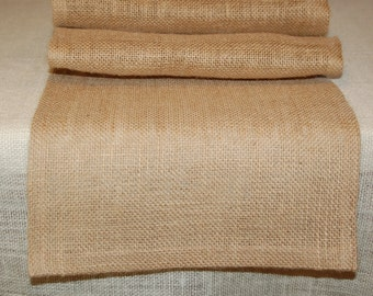 Natural 100% Jute Stylish, Rustic Chic Burlap Table Runner,Custom Color Burlap,Custom Sizes. For Parties, Weddings, Special Occasions etc.