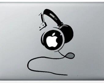 """Sticker """"DJ Headphones"""" for MacBook"""