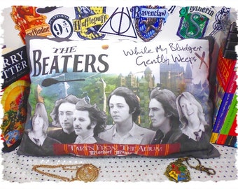 """Harry Potter/The Beatles Mashup- """"The Beaters"""" Cushion"""