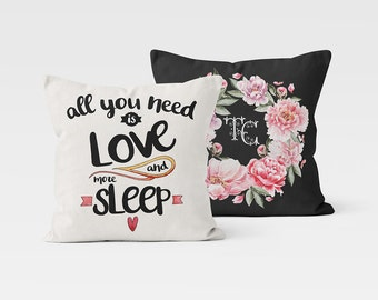 Pillow Cover Throw Pillow Custom Decorative Pillow Accent Pillow Case Quote Pillow Monogram PillowCase Designer Cushion Pillow Custom Gift