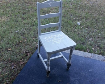 Grey Antique Chair