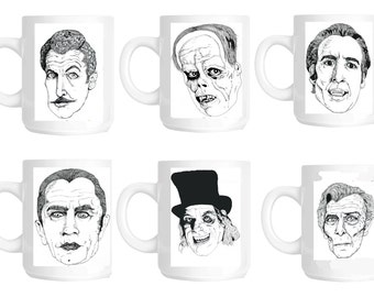 Classic Horror mugs